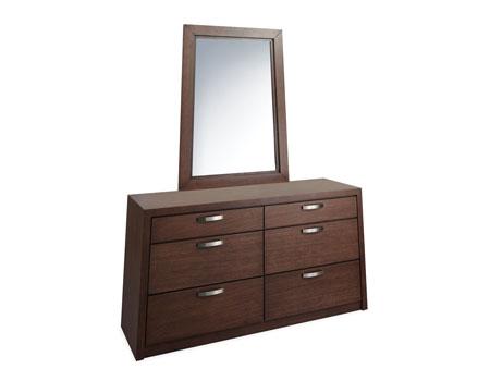 6 Drawer Dresser with Vertical Mirror